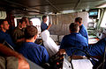 Operations briefing on the bridge of the French destroyer FS Jean de Vienne during Operation Desert Shield.JPEG