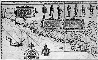 History of Oregon - 1601 AD map showing unexplored Oregon Coast