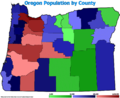 Oregon county pop 2007.png