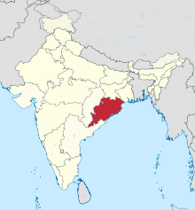 Orissa in India (disputed hatched).svg