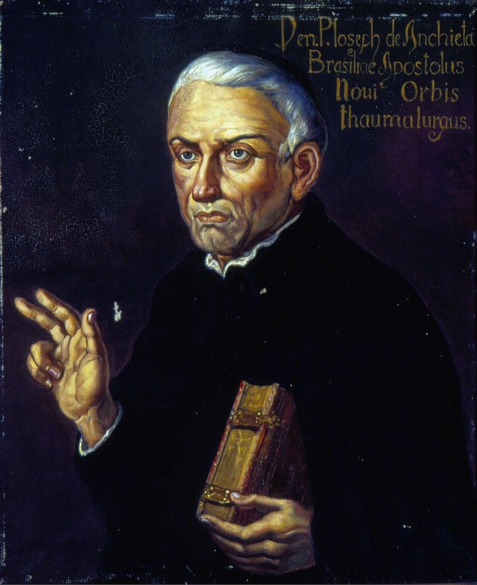 Oscar Pereira da Silva - Retrato de Anchieta, Acervo do Museu Paulista da USP