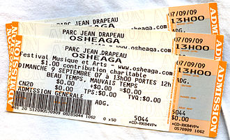 Osheaga Festival - Tickets for the second day of the 2007 edition.