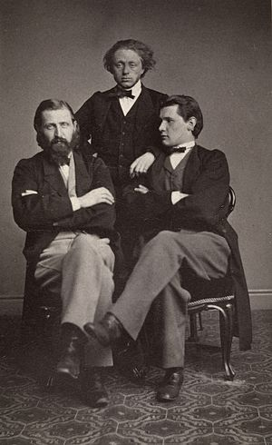 Otto Winter-Hjelm - Otto Winther-Hjelm to the left. Photo C.P. Knudsen, around 1860-1870. (Oslo Museum, Byhistorisk samling)