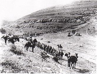 Balqa Governorate - Ottoman prisoners near Salt during World War I Battles for Amman