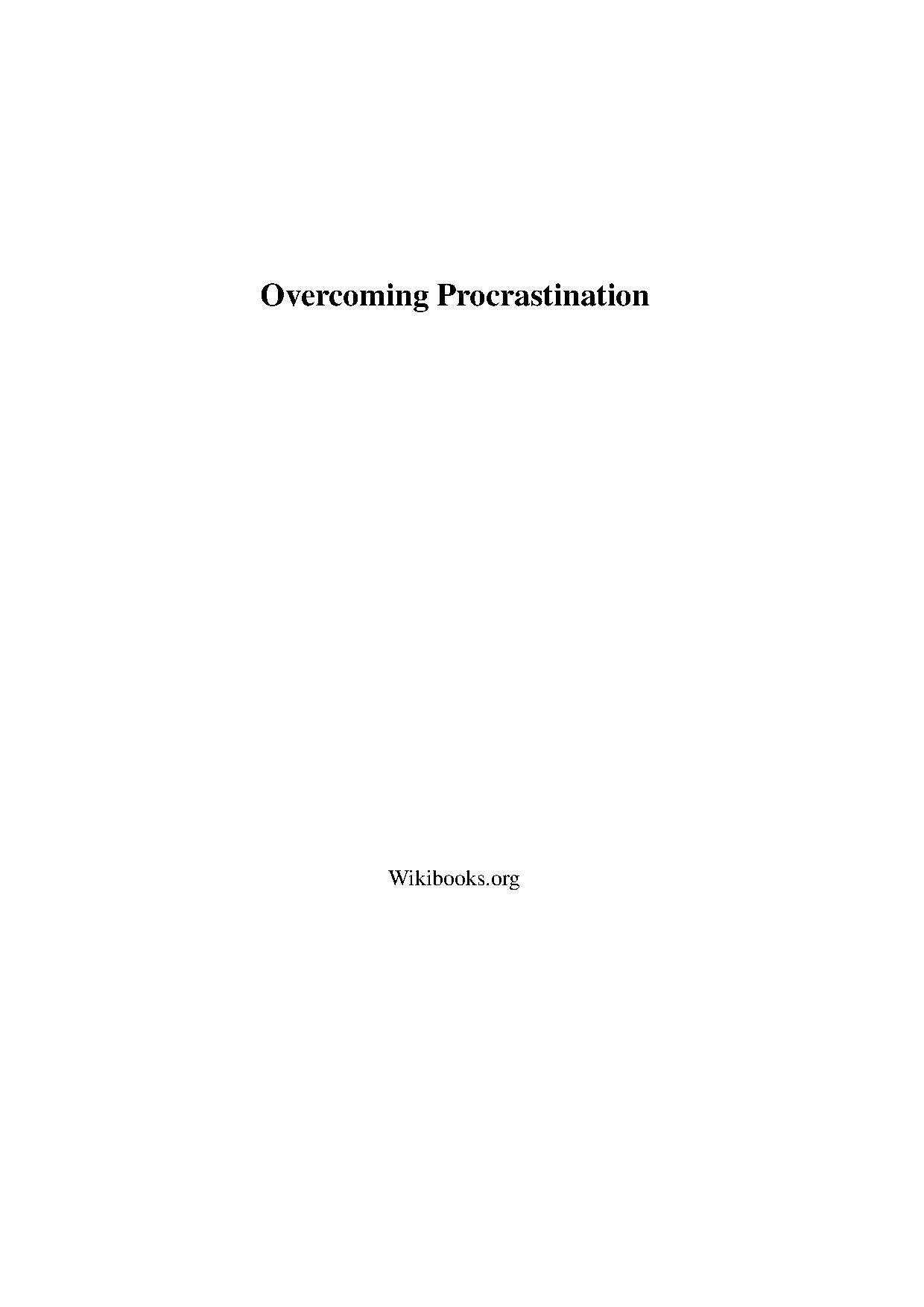 Overcoming Procrastination.pdf