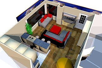 Sweet Home 3D - Image: Overview entrance