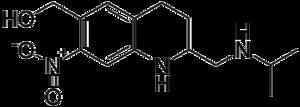 Oxamniquine - Image: Oxamniquine structure