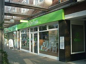 English: Oxfam Shop in Hamburg