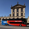 Oxford Tube bus YJ14 LFK outside the Queen's College in High Street, Oxford.jpg