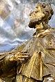 Pér, római katolikus templom, Nepomuki Szent János-szobor 2021 13.jpg