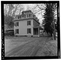 PERSPECTIVE VIEW OF LEFT (SIDE) AND MAIN ELEVATIONS - Warren Wilkey House, 190 Main Street, Roslyn, Nassau County, NY HABS NY,30-ROS,7-3.tif