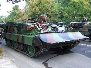 WZT - WZT-3M on a military parade in Warsaw, 15.08.2007.