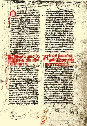 Exemplum - Image: Page from 'Libro de los exemplos por a. b. c.' by Clemente Sánchez de Vercial