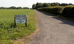 Pages Lane Leading To White House Farm