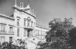 Bemposta Palace - The front façade of the Bemposta Palace taken in 1939