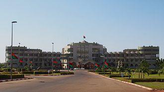Official residence - Palais Kosyam in Ouagadougou
