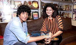Palak Muchhal - Muchhal with brother Palash Muchhal on Raksha Bandhan 2013
