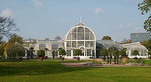 Garden Society of Gothenburg - The palm greenhouse in Trädgårdsföreningen