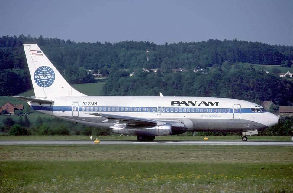 Pan Am Boeing 737-200 at Zurich Airport in May 1985