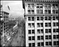 Panoramic view of Los Angeles from the Lankershim building, showing South Broadway (left), 7th Street (center) and North Broadway (right), November 1917 (CHS-5773).jpg
