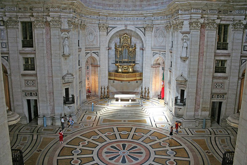 Church of Santa Engrácia, now the National Pantheon.  From An Architectural Tour of Portugal