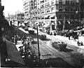 Parade down 3rd Ave looking north from Columbia, Alaska Yukon Pacific Exposition, Seattle, 1909 (AYP 407).jpg