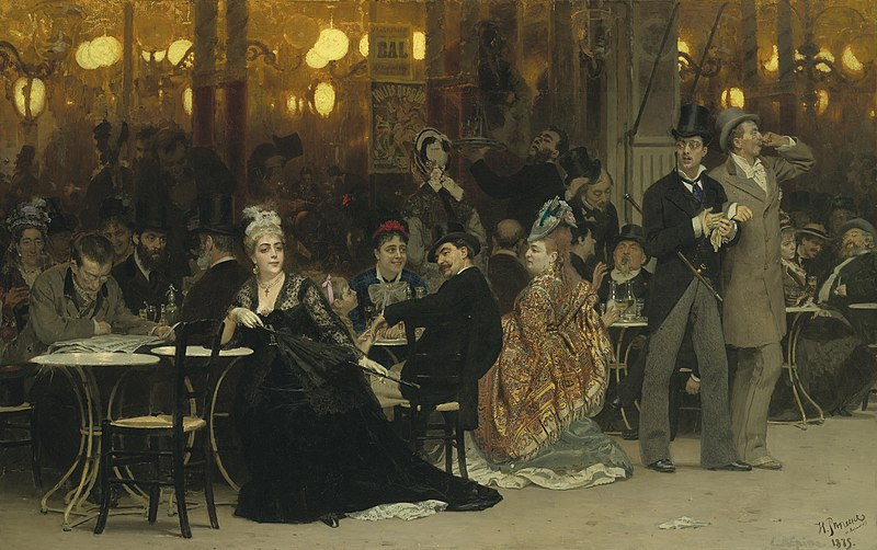 File:Parisian Cafe by Repin.jpg