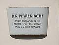 Parndorf Schild an Kirche.jpg
