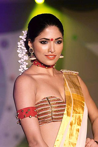 Actress and former Miss India World Parvathy Omanakuttan at the 2012 SNDT Chrysalis fashion show.