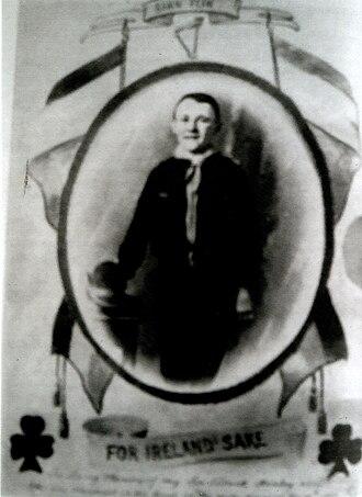 Fianna Éireann - Fianna Scout Patrick Hanley, killed in action by the RIC in Cork, 27 Nov 1920