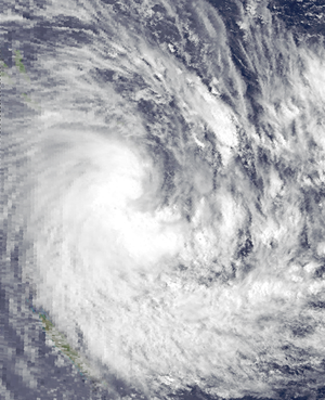 1986–87 South Pacific cyclone season - Image: Patsy Dec 15 1986 0330Z
