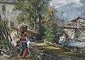 Paul Meyerheim - Wäscherin im Gebirge, 1880.jpg