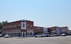 Payette, Idaho, Main Street with a view toward the N. A. Jacobsen building.