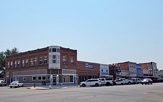 Payette, Idaho - Payette, Idaho, Main Street with a view toward the N. A. Jacobsen building.