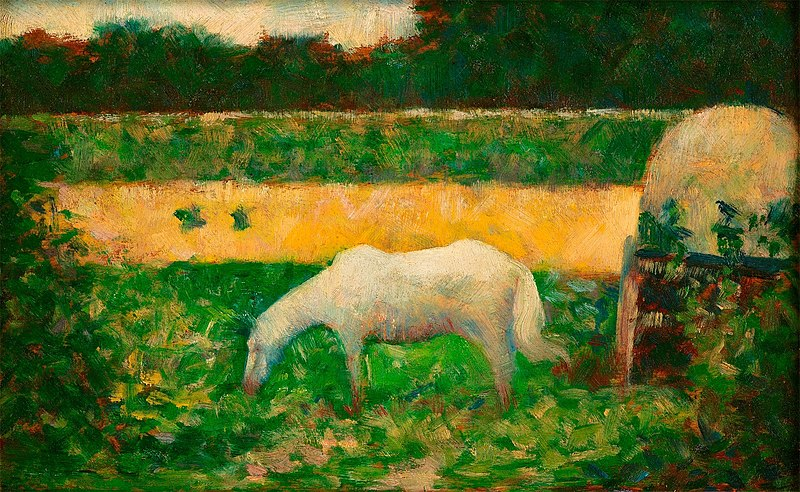 File:Paysage avec Cheval (Landscape with Horse) by Georges Seurat, 1882-83.jpg