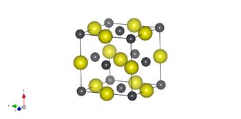 Maille conventionnelle du sulfure de plomb(II) : dans la maille cfc ...