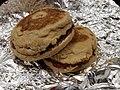 Peanut butter jelly sandwich on an English muffin.jpg