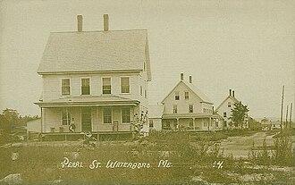 Waterboro, Maine - Pearl Street in 1912