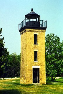 Peninsula Point Light lighthouse in Michigan, United States