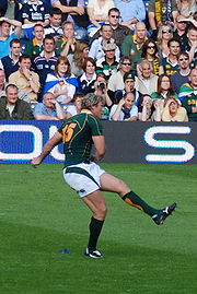 Percy Montgomery is South Africa's most capped player, and holds the South African record for Test points.