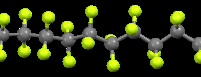 Structure of Polytetrafluoroethylene  or Teflon