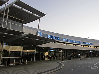 Perth Airport - Image: Perth Intl front side on 2015