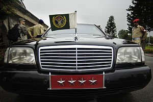 Chairman Joint Chiefs of Staff Committee - Car used by Chairman Joint Chiefs with the flag and star plate