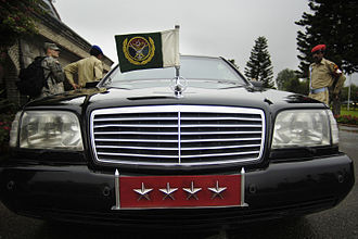 Chairman Joint Chiefs of Staff Committee - Car used by Chairman Joint Chiefs with the flag and star plate (General Ehsan ul Haq's car in 2006)