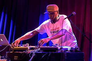 Disc jockey - DJ Pete Rock performing at Razel and Friends - Brooklyn Bowl, 2016