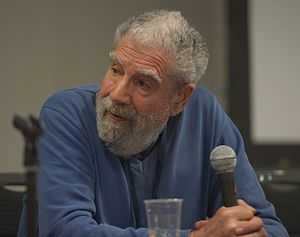 Peter Nicholls (writer) - Peter Nicholls on a panel discussing The Encyclopedia of Science Fiction at Loncon, Worldcon 2014