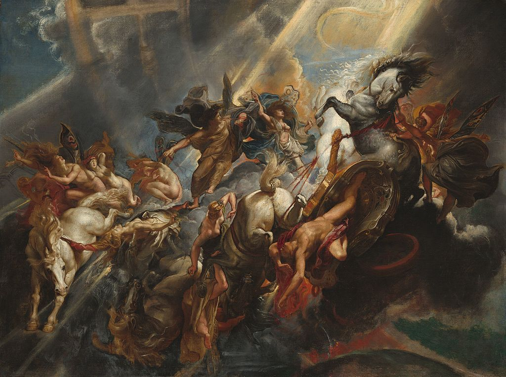 Peter Paul Rubens The Fall of Pantheon Baroque Painting