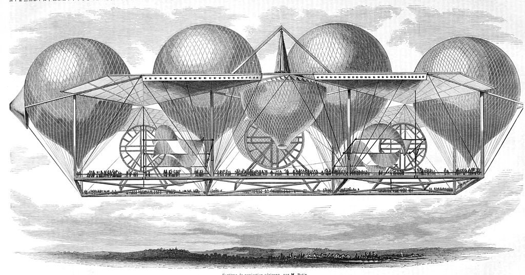 Petin viewing airship platform