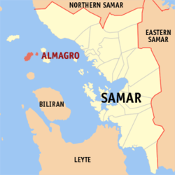 Map of Samar with Almagro highlighted