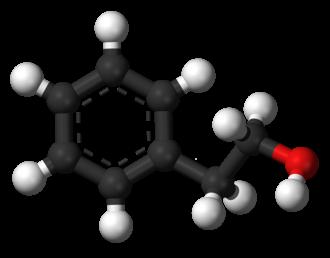 Phenethyl alcohol - Image: Phenethyl alcohol 3D balls